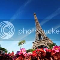 Eiffel toranj u cvijeću | Slike gradova | Slike za desktop