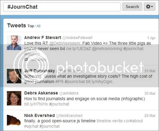 #JournChat