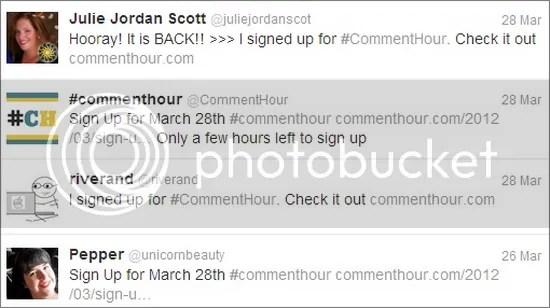 #CommentHour