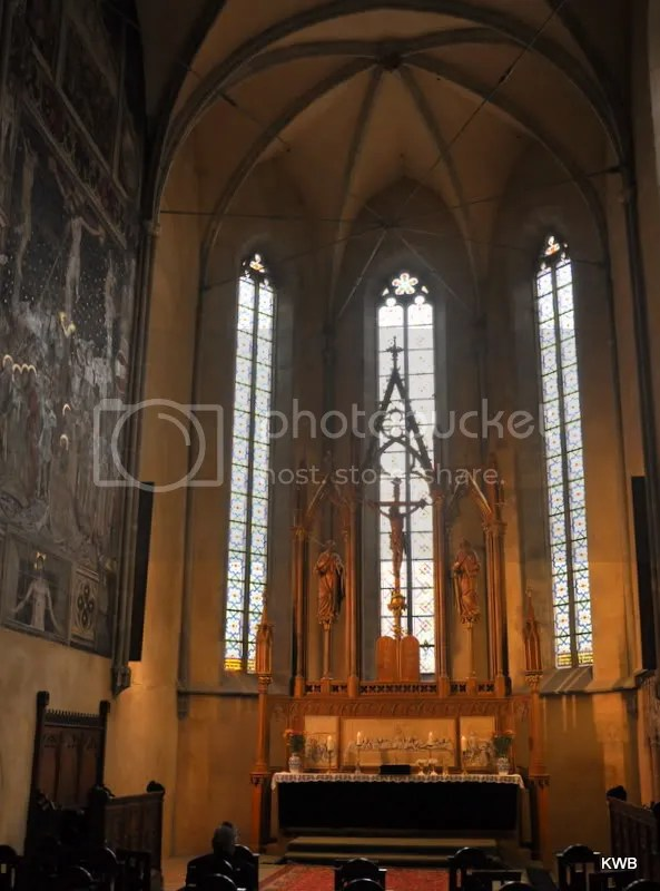 The altar of the Lutheran Church of Saint Mary.
