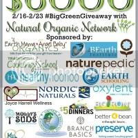 How #BigGreenGiveaway helps with Living Green, Healthy & Organic.