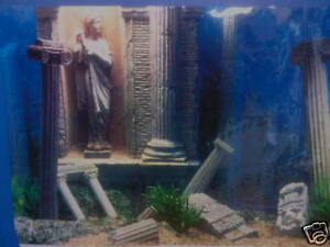 Details about Fish Tank Aquarium Greek Ruins Background 19