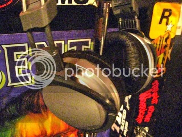 headphone in the dj booth