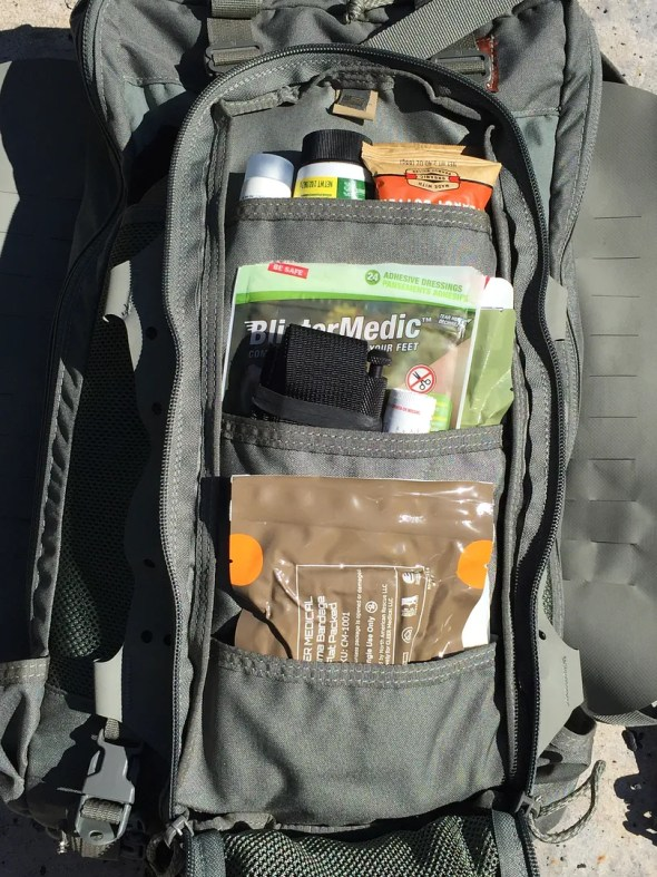 The Aston Pocket loaded with supplies.