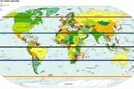 Map with equator line gumiabroncs Images