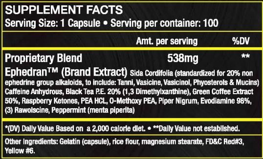 yellow demons ingredients