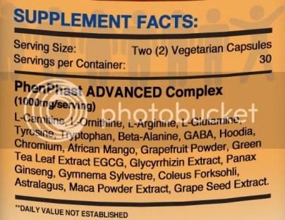 phenphast advanced ingredients