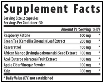slimifit raspberry ketones ingredients