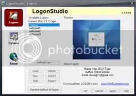 logon studio 1 Personalizar La Pantalla de Inicio de Sesión en Windows XP y Windows Vista