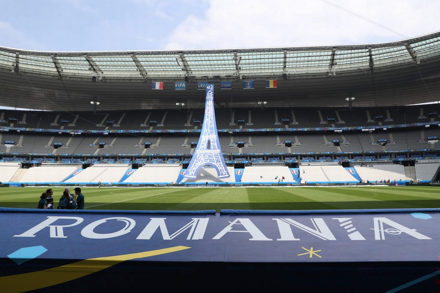 The Stade De France gets ready for the opening ceremony of Euro 2016     The Stade De France gets ready for the opening ceremony of Euro 2016