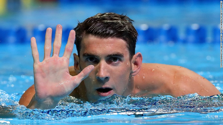 michael phelps reacts after booking his place on the u s swimming team for 2017 olympic