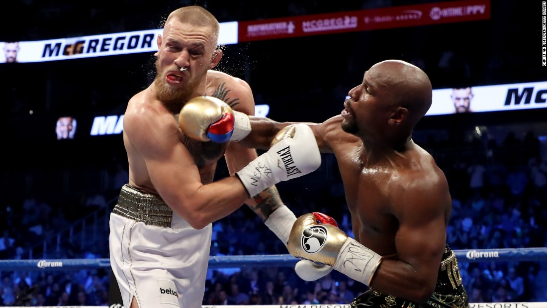 mayweather landed more punches than mcgregor 130 60 in rounds six
