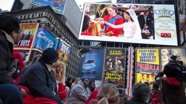 People watch the royal wedding in Times Square helping to make it the 6th biggest Internet news event ever (CNN.com)
