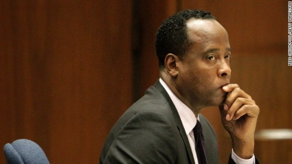 Dr. Conrad Murray sits in court during his involuntary manslaughter trial on October 21, 2011, in Los Angeles, California.