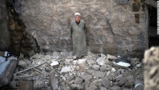 A man stands in the remains of a house following a reported airstrike by the Syrian air force in Aleppo on Monday, April 15. Tensions in Syria first flared in March 2011, escalating into a civil war that still rages. This gallery contains the most compelling images taken since the start of the conflict.