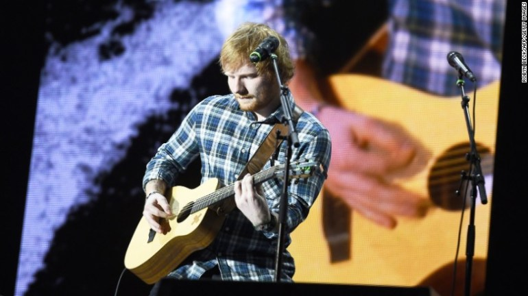 "Best male video: Ed Sheeran (pictured), ""Thinking Out Loud""; Mark Ronson feat. Bruno Mars, ""Uptown Funk""; Kendrick Lamar, ""Alright""; The Weeknd, ""Earned It""; Nick Jonas, ""Chains.""<br />"