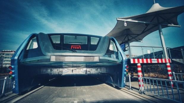 China elevated bus abandoned 3