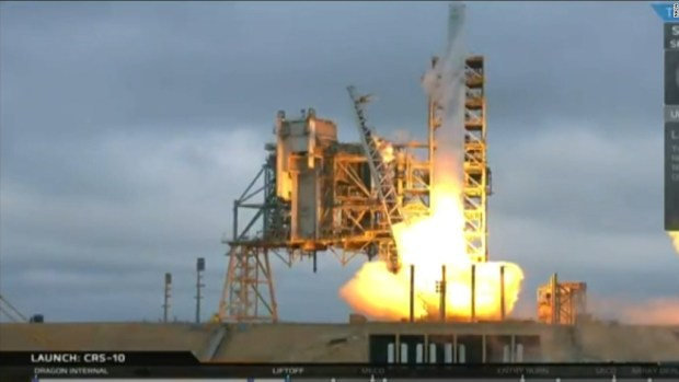 SpaceX launches from historic NASA moon pad