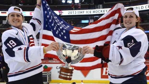 U.S. women's hockey team strike in pay protest