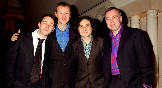 The League of Gentlemen (L-R) Reece Shearsmith, Mark Gatiss, Jeremy Dyson and Steve Pemberton