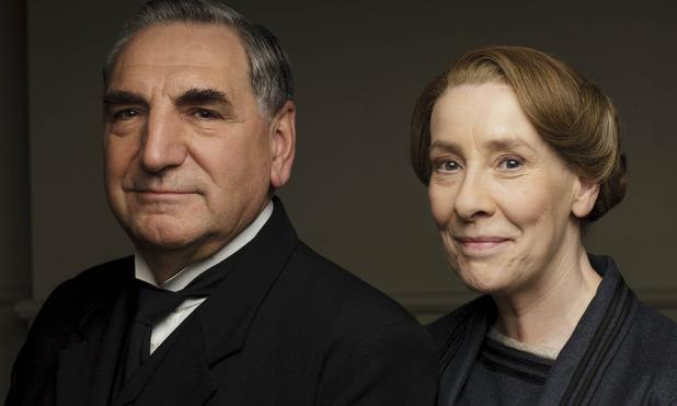 Jim Carter & Phyllis Logan in Downton Abbey series 6 promo