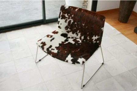 fauteuil peau zebre