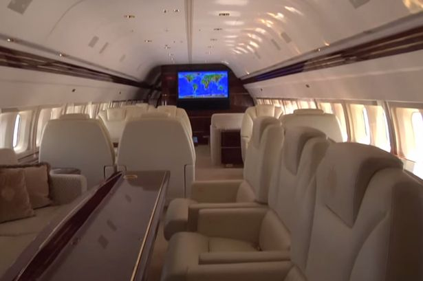 See Inside Donald Trump39s Amazing Goldplated Private Boeing Passenger Je