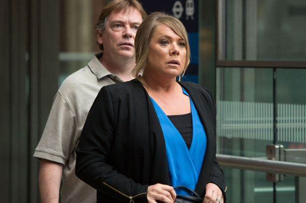 Ian Beale (ADAM WOODYATT), Sharon Mitchell (LETITIA DEAN) in EastEnders