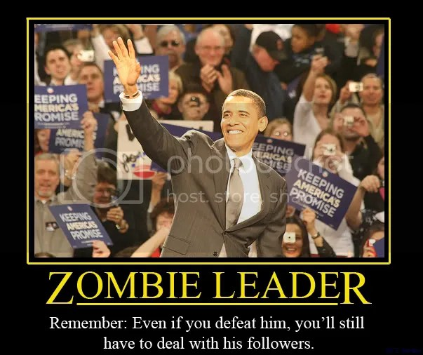 Obama ZombieLeader wtf cool stuff right politics personal d 2 my fave military libertarian politics how to health fitness gadgets cool stuff funny politics food cool stuff diy demotivate crazy funny video  7 Survival Videos for the Zombie Apocalypse