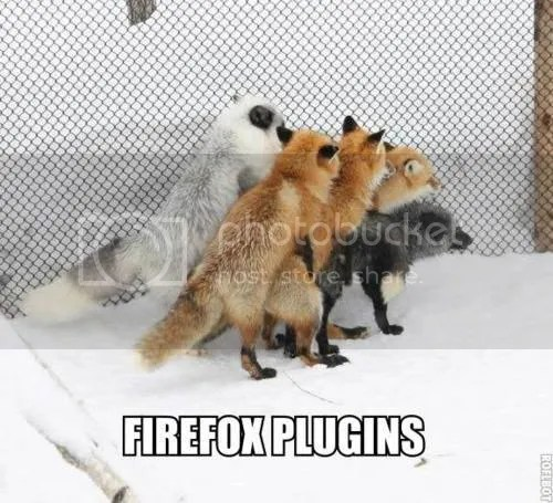 Firefox plugins. lol! :)