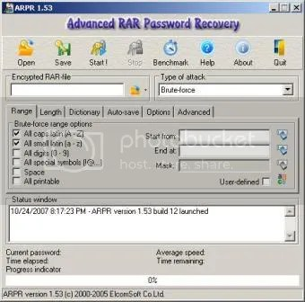 Advanced RAR Password Recovery   Bẻ khóa file nén RAR