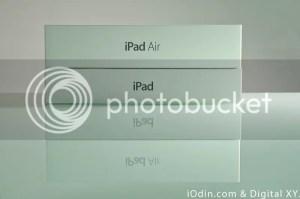 iPad Air 盒子意外地的比以往厚。(點擊放大)