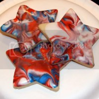 Red, White & Blue Tie Dye Cookies