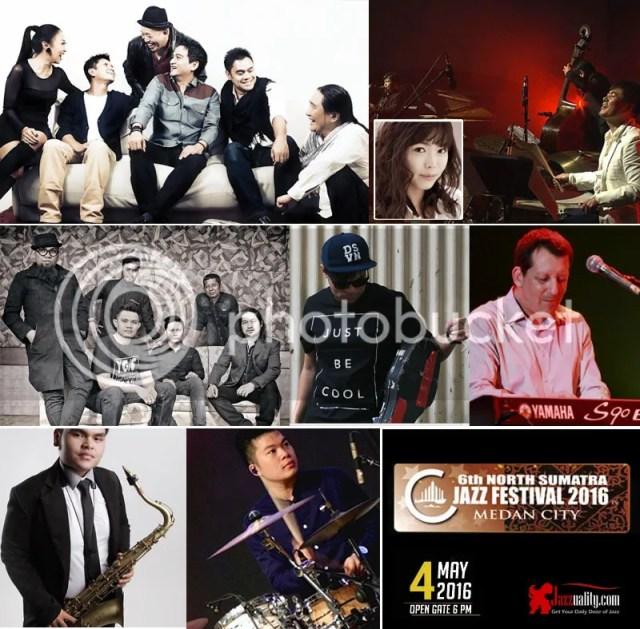 north sumatra jazz festival 2016, north sumatra jazz festival 2016 lineup, jazzuality