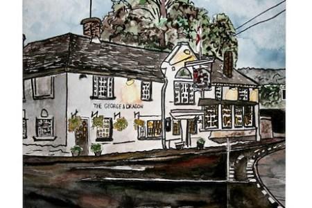 george and dragon pub restaur tile coaster ?height=460&width=460&qv=90