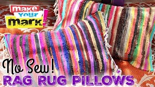 NO SEW! Easy Rag Rug Pillows