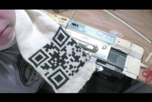 CRAFT Video: Machine-Knitted QR Code&nbsp;Scarf