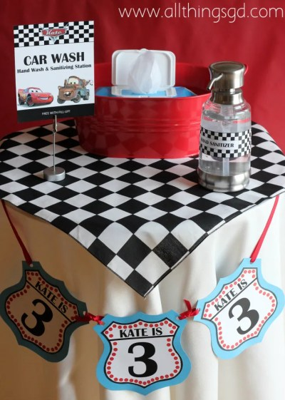 Cars Themed Birthday Party, Car Wash