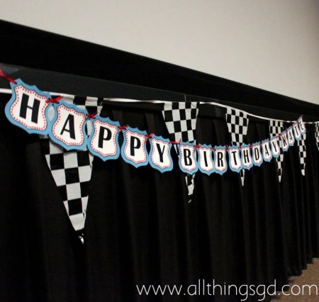 Cars Themed Movie Theater Birthday Party