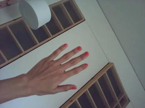 Orange nails by Tallulah Morton