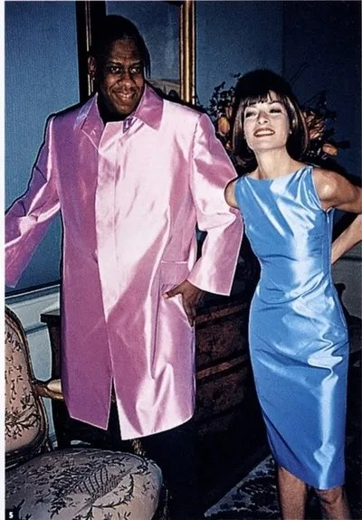 Andre Leon Talley and Anna Wintour in 1988