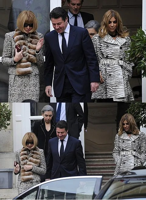 Anna Wintour, Christian Estrosi, Carine Roitfeld in Paris