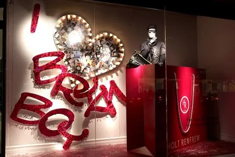 Holt Renfrew fashion bloggers window display - Bryanboy