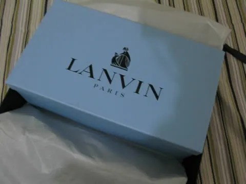 Lanvin sneakers blue box