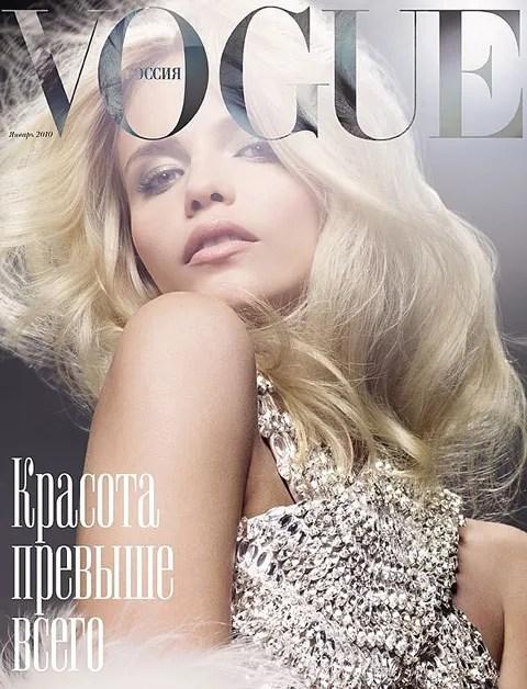 Natasha Poly for Vogue Russia January 2010 cover