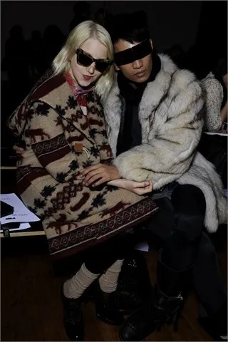 Rag & Bone Front Row Julia Frakes and Bryanboy