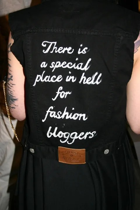 There's a special place in hell for fashion bloggers.