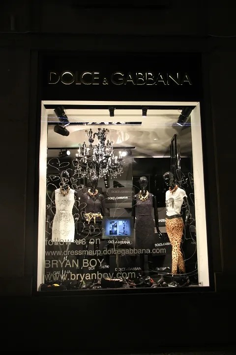 Dolce & Gabbana window display by Bryanboy
