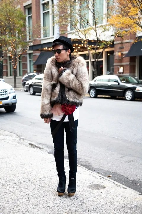 Bryanboy outside Soho Grand Hotel New York