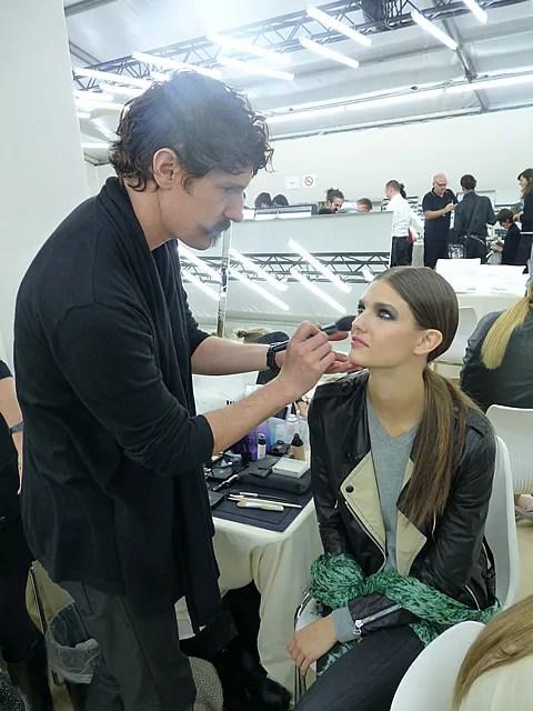 Chanel make-up backstage spring summer 2011